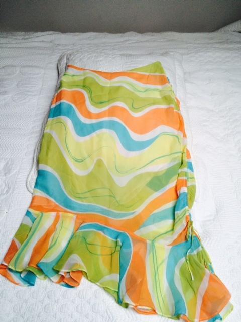 jedwabna spódnica