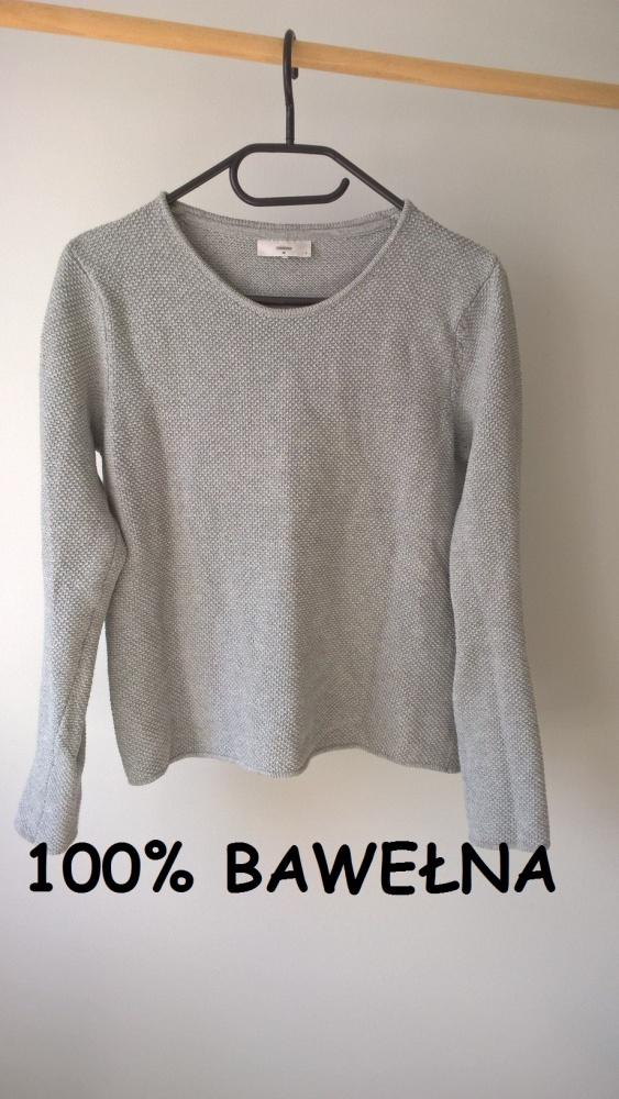 Szary sweterek bawełna Basic