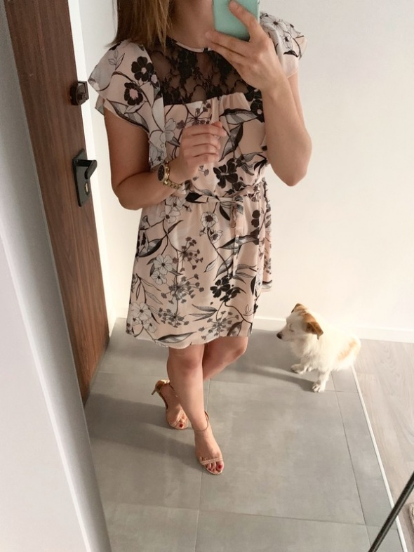 Atmosphere letnia sukienka pastelowa koronka M L
