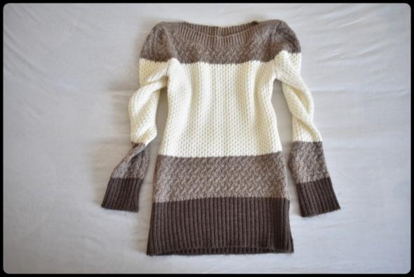 Sweter mięciutki beżowy stonowany 38 M
