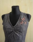 House jeansowa sukienka z motylkami...