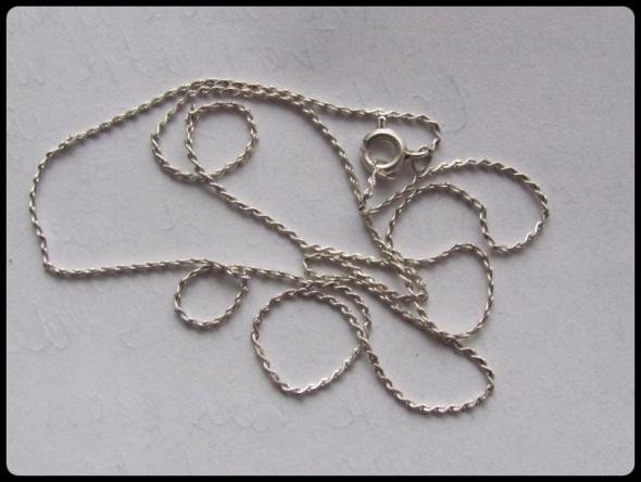 Łańcuszek koloru srebrnego 50 cm