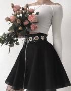 Goth gothic spódnica ringi zip eco skórka...