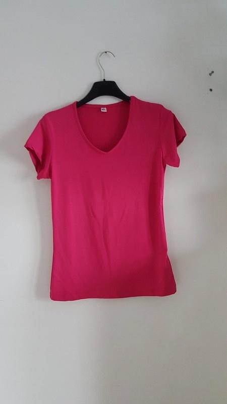 t schirt bluzka pink róż