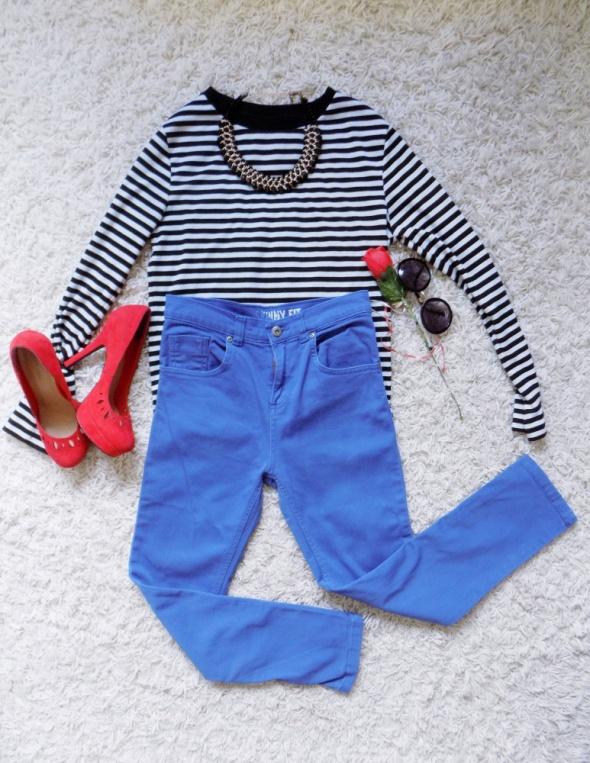 Błękitne pastelowe fit skiny