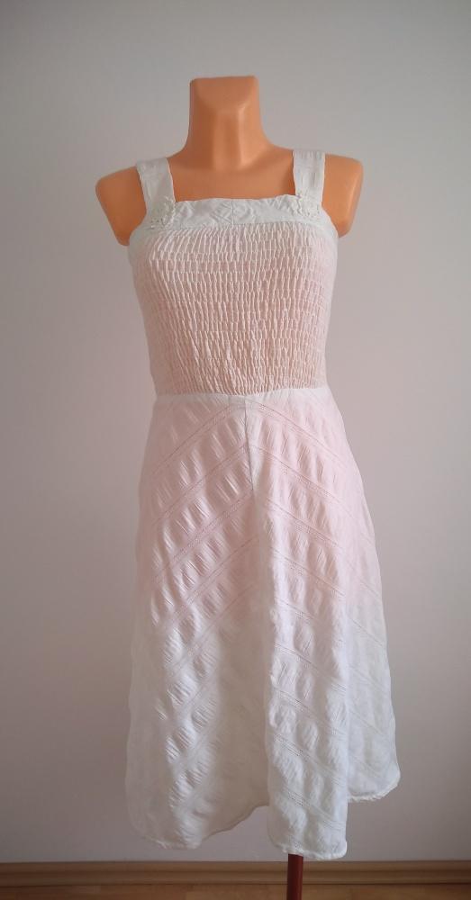 Sukienka biala na lato S