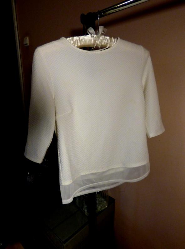 Biała bluzeczka rękaw 3 4 Atmoshopere S 36 eleganc