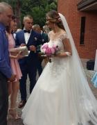 Zjawiskowa suknia ślubna 38 Ivory...