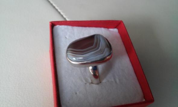 Stary pierścionek z agatem