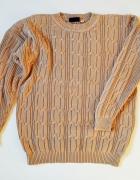 PAON Bawełniany sweter męski z warkoczami L...