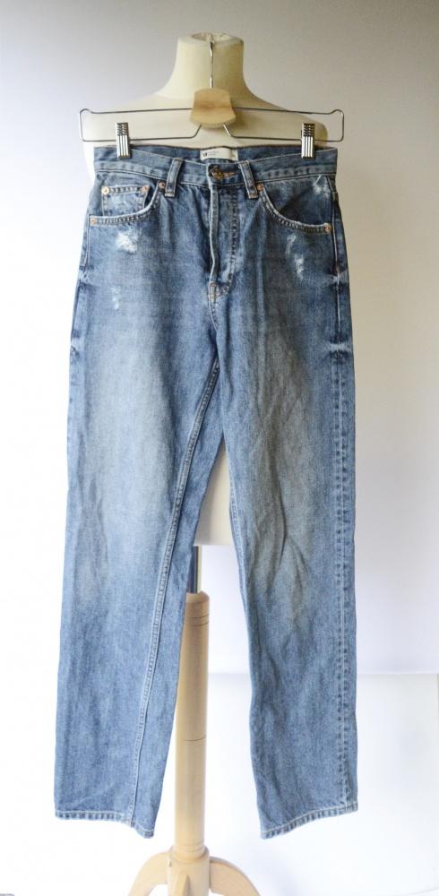 Spodnie Jeansy XS 34 Przetarcia Gina Tricot Boyfriend Dzinsy