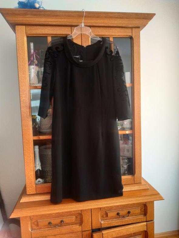 Suknie i sukienki Semper r44 Sexy mala czarna z mega modnym welurowym akcentem