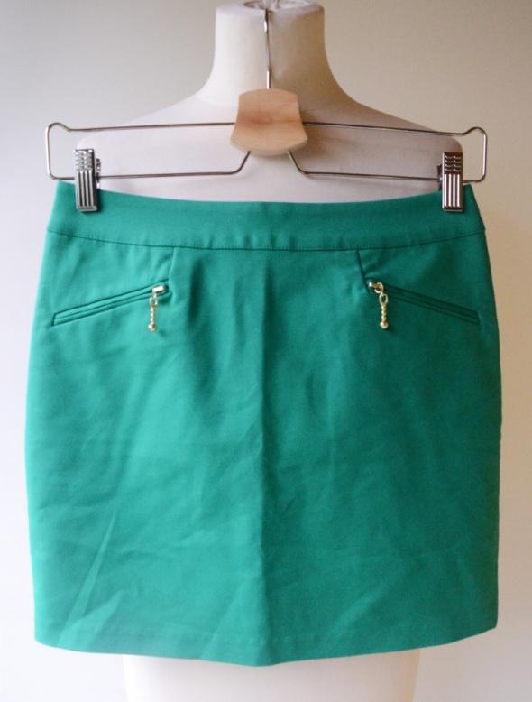 Spódniczka Zielona H&M XS 34 Zip Elegancka Do Prac