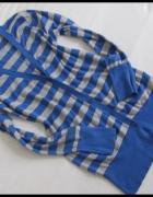Sweter rozpinany w niebieskie pasy kardigan Atmosphere L XL...