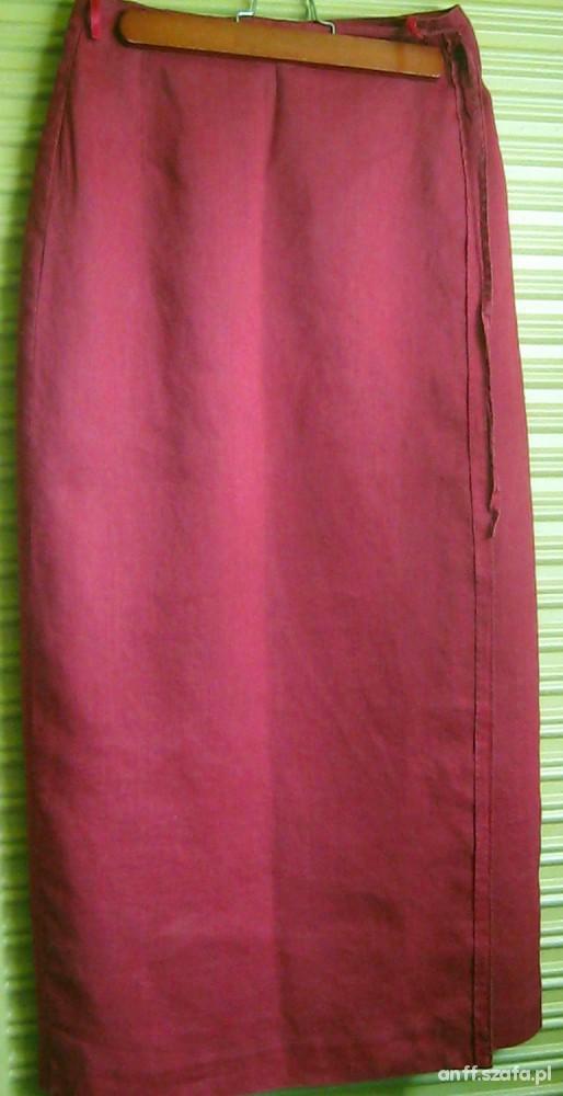 Lniana kopretowa spódnica