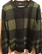 Sweter w kratę Zara...