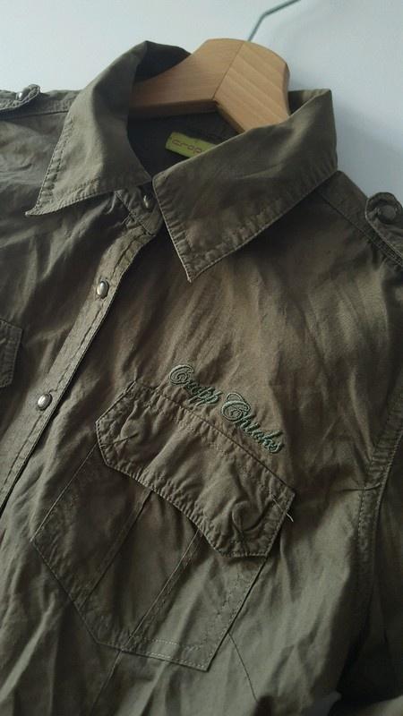 Koszula dlugi rękaw militarna khaki Cropp M