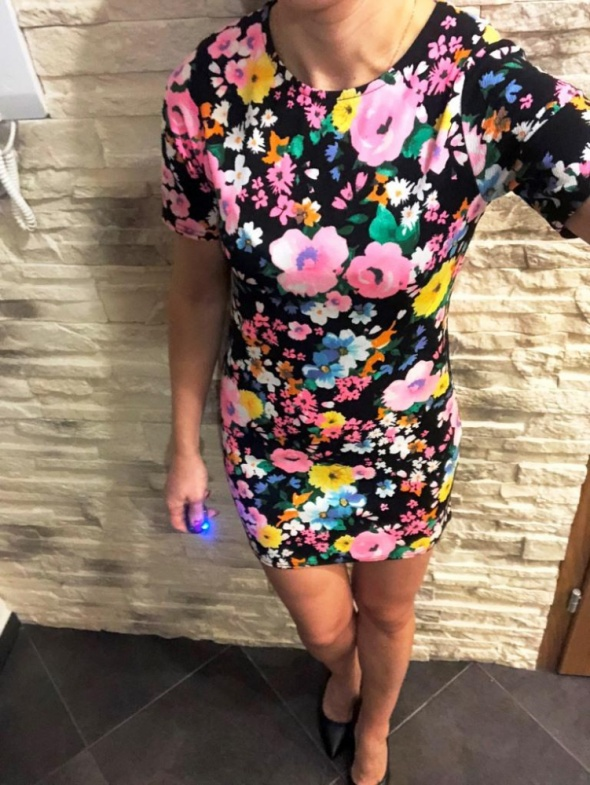 Sukienka Missguided flowers kwiaty S Zara Lou