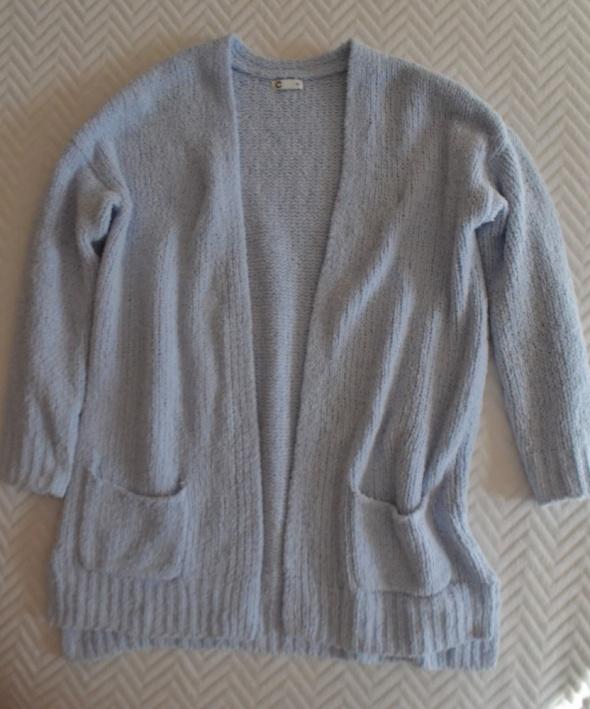 Błękitny długi sweter Cubus XS...