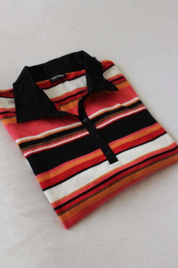 bawełniana bluzka polo w paski