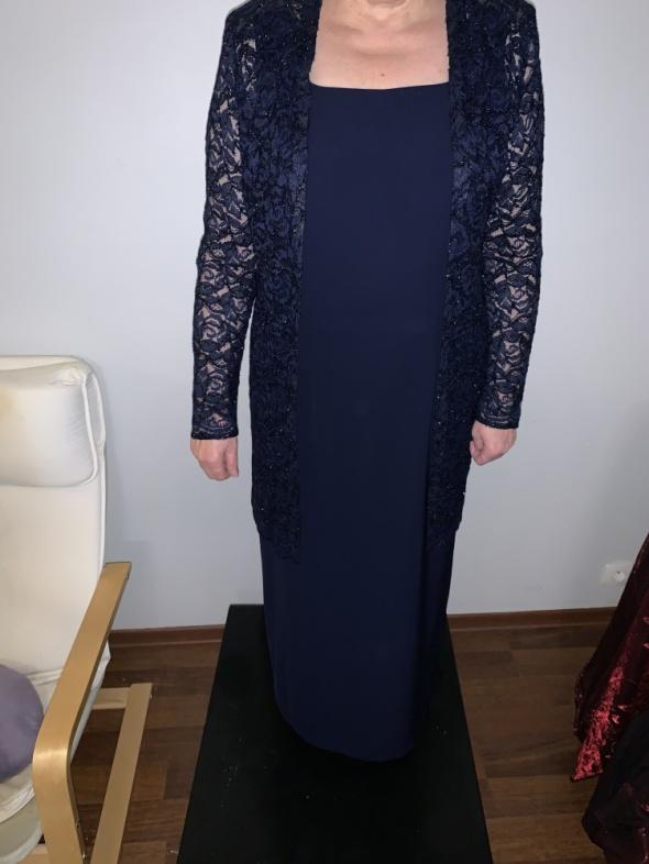 jak nowa wieczorowa sukienka z narzutką 40