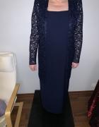 jak nowa wieczorowa sukienka z narzutką 40...