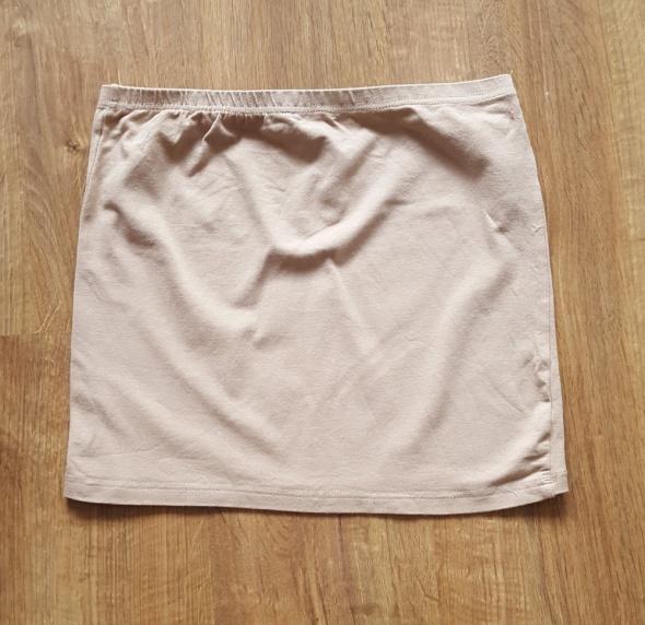 Mini spódniczka brązowa M 38 L 40 spódnica krótka