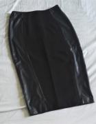 spódnica midi eko skóra czarna 38 M F&F...