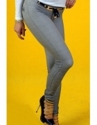 Szare legginsy z ozdobami S