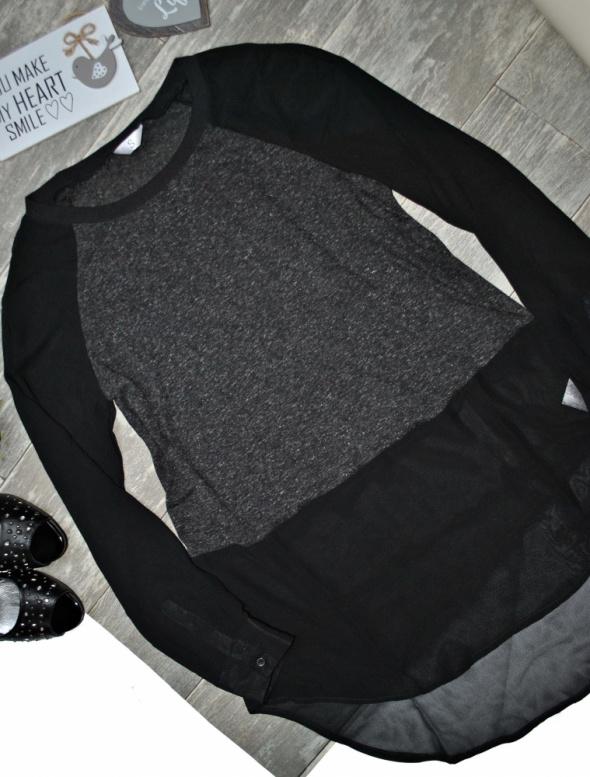 Bluzka Koszula Szyfon Mgiełka Asymetryczna Glam