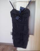 Śliczna granatowa sukienka 36