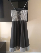 Sukienka gorsetowa rozkloszowana sylwester studniówka 36 S
