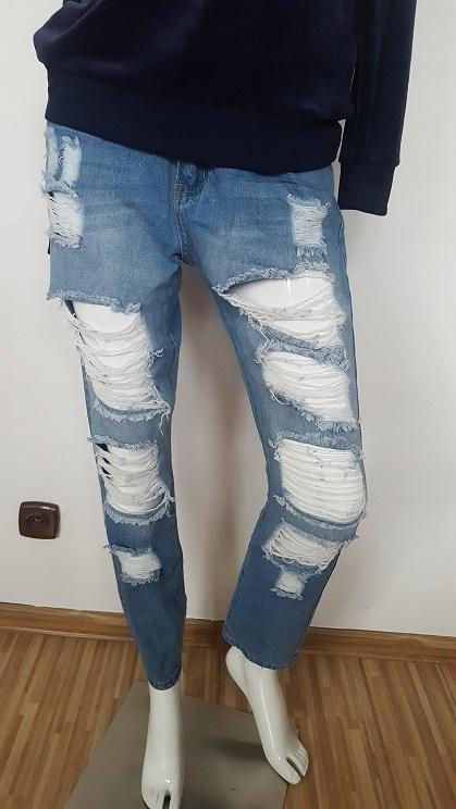 Spodnie boyfriend dziury nowe M L 40