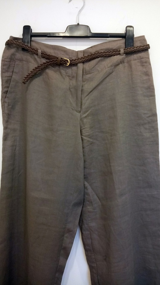 spodnie beżowe 46 H&M