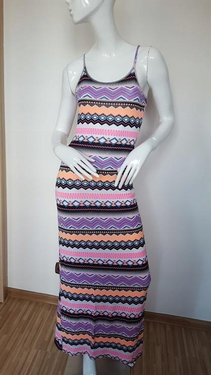 Aztec letnia sukienka maxi we wzorki 36 38 S M