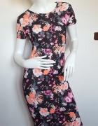 Letnia nowa sukienka kwiaty 38 40 M L...