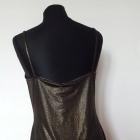 Metaliczna sukienka ołówkowa 38 40 M L