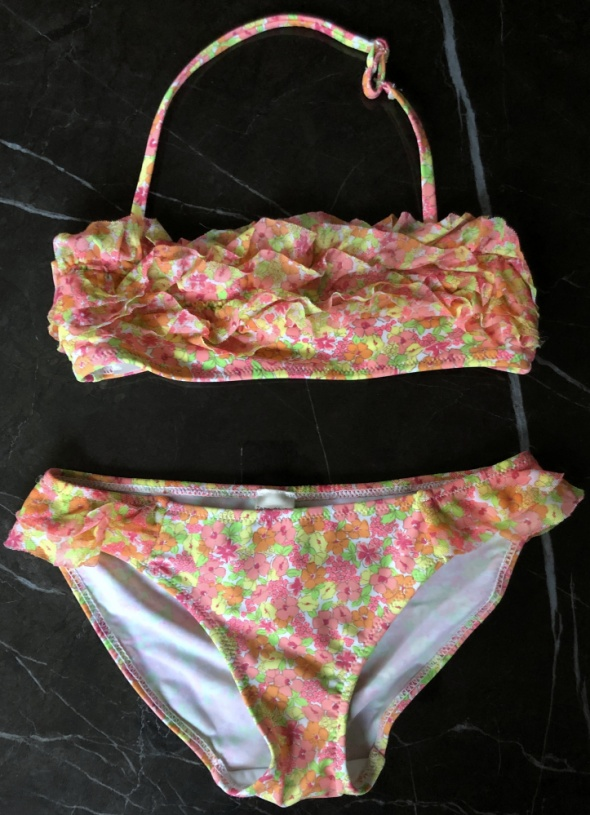 ZARA Kids bikini kostium strój kąpielowy dwuczęściowy 134 140 cm 9 10 lat stan BDB