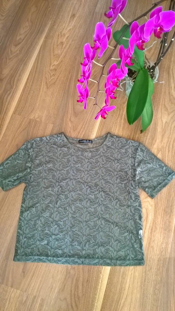 Koronkowa bluzeczka khaki