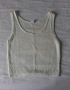Biała bluzka crop top jak sweterek grunge...