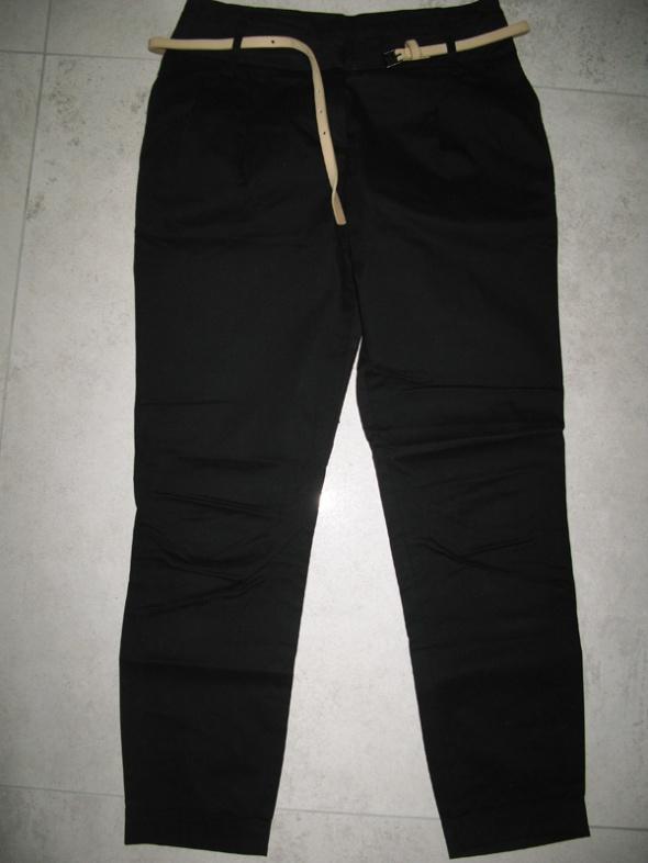 ZARA czarne eleganckie damskie spodnie z paskiem roz 34 w