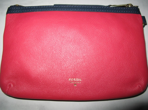 FOSSIL różowa torebka kosmetyczna damska