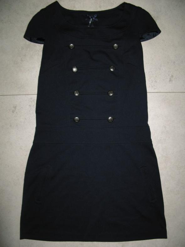 NEXT granatowa sukienka z guziczkami roz 38