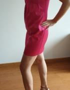 Krótka różowa sukienka Mango na Sylwestra rozm 36...