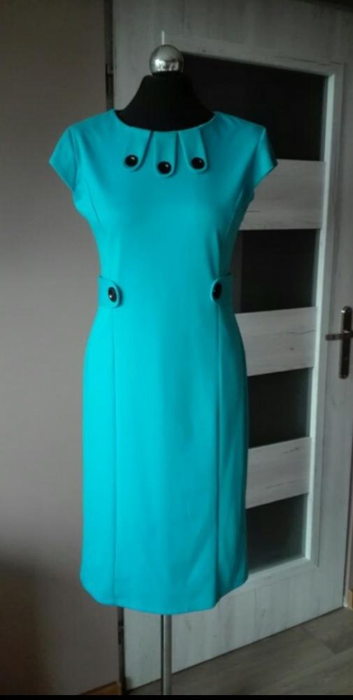 Alex turkusowa sukienka