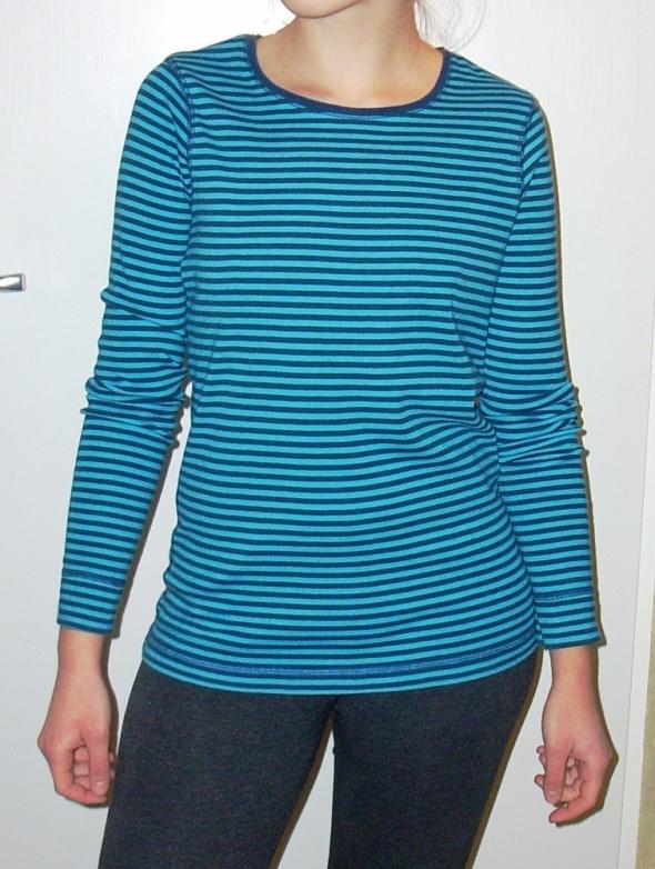 Bawełniana bluzeczka w paski długi rękaw