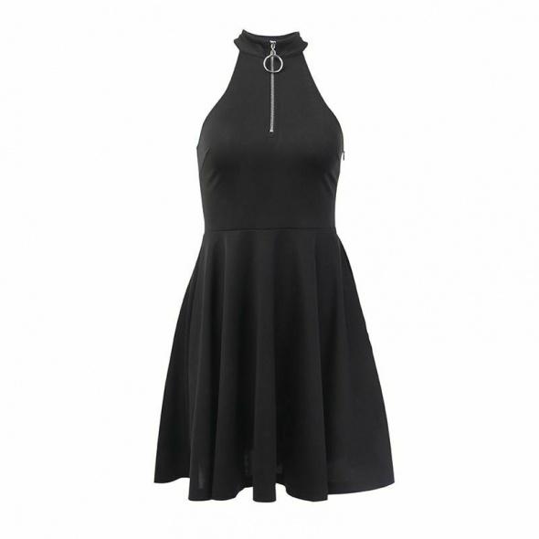 Sukienka z zamkiem 38 M gothic gotycka punk NOWA