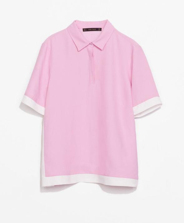 ZARA różowa bluzka POLO rozmiar S