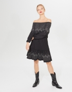 Mohito sukienka ozdobna z dżetami dekolt carmen 36 S...