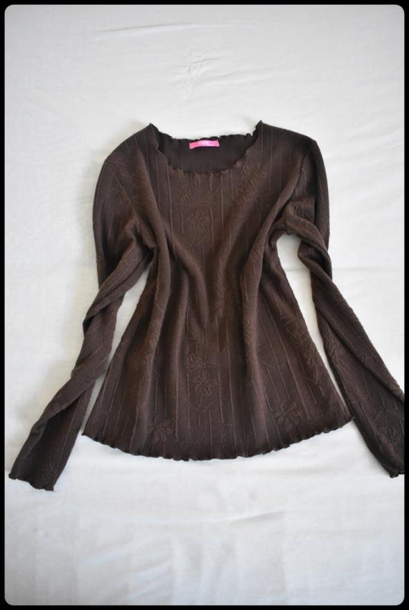 Brązowa bluzka w delikatne wzorki rozmiar 38 M